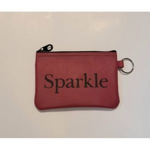 "Dark Pink ""Sparkle"" Cosmetics Bag Or Chang…"
